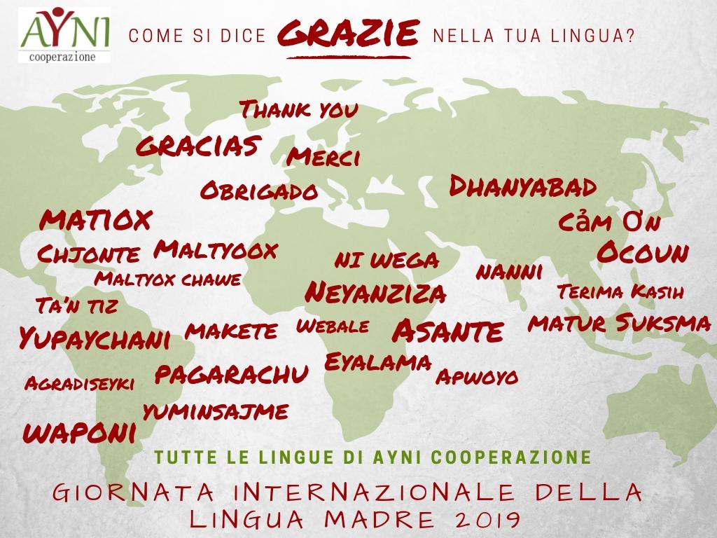 Giornata della lingua madre- grazie