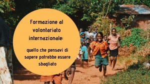 formazione al volontariato internazionale