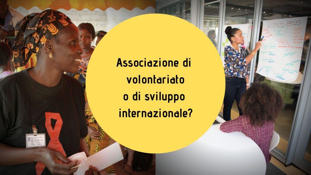 Associazione di sviluppo internazionale o di volontariato
