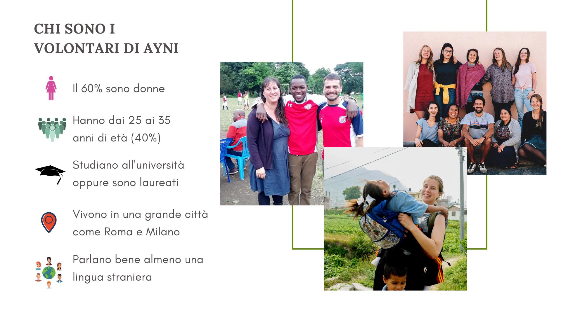Chi sono i volontari di Ayni, il mondo del volontariato internazionale