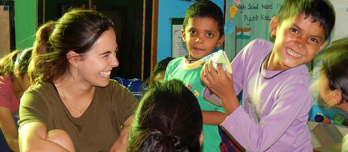 Volontariato in India con Pyunli
